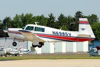 N6985V @ OSH - 1976 Mooney M20F, c/n: 22-1347 arriving at 2011 Oshkosh