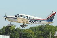 N32553 @ OSH - 1974 Piper PA-28-235, c/n: 28-7510024 departing Oshkosh 2011