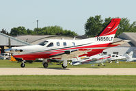 N850LT @ OSH - Socata TBM 700, c/n: 585 arriving at 2011 Oshkosh