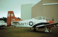 140511 @ NPA - T-28C Trojan of Training Squadron VT-3 on display at the Pensacola Naval Aviation Museum in November 1979. - by Peter Nicholson