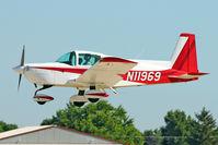 N11969 @ OSH - American General Acft Corp AG5B, c/n: 10126 landing at 2011 Oshkosh