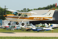 N64119 @ OSH - 1975 Cessna 172M, c/n: 17265034 arriving at 2011 Oshkosh