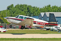 N7114V @ OSH - 1974 Mooney M20F, c/n: 22-0049 at 2011 Oshkosh