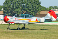 N352SH @ OSH - 1985 Aerostar S A YAK-52, c/n: 855704 at 2011 Oshkosh - by Terry Fletcher