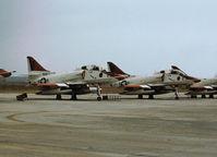 159796 @ NPA - TA-4J Skyhawk of Training Squadron VT-86 on the flight-line at NAS Pensacola in November 1979. - by Peter Nicholson