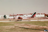 N454SA @ MIV - Skystream Airlines, 'pink' Beech 99. This aircraft was w/o on 09 June 1979 on appr to Chicago-Meigs field. [image scan from K5247 film] - by John Hevesi