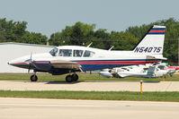N54075 @ OSH - 1974 Piper PA-23-250, c/n: 27-7405385 at 2011 Oshkosh