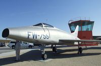 52-5755 - North American YF-100A Super Sabre at the Century Circle display outside the gate of Edwards AFB, CA
