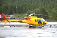LN-OTR @ ENSG - Ecureuil helicopter on the platform of Sogndal airport, Norway. - by Henk van Capelle
