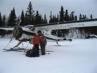 C-FFLN - Bakers Narrows, Flin Flon, Manitoba; pilot and instructor in picture ! - by Brett Baynton