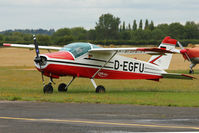 D-EGFU @ EGBW - 1966 Bolkow BO-208C Junior, c/n: 640 at Wellesbourne - by Terry Fletcher