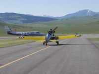 N56076 @ LVM - Taxiing to the grass strip at Mission Field Airport in Livingston Montana - by Gordon R. Sallee