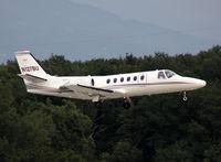 N127BU @ LSGG - Landing rwy 23 - by Shunn311