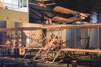 UNKNOWN @ FFO - Wright Flyer as displayed at the USAF Museum in the Summer of 1977. - by Peter Nicholson