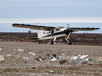 C-GEWP @ CYYQ - Landing at a remote airstrip near a remotr lodge for Great White Bear watching.Flight from Churchill.