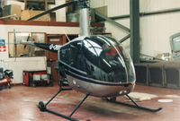 G-OBIL @ EGEG - in the hanger of Clyde Helicopters, Glasgow City Heliport - by wigan airways