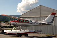 LN-LMQ @ ENNO - Cessna U206E floatplane parked at Notodden airfield, Norway. - by Henk van Capelle