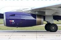 G-OJEG @ EGCC - IAE V2533-A5 turbofan - by Chris Hall