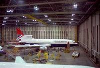 G-BFCC @ EGLL - Undergoing maintenance at TBE Heathrow - by Gordon White