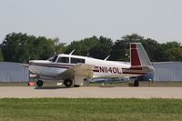 N1140L @ KOSH - Mooney M20J - by Mark Pasqualino