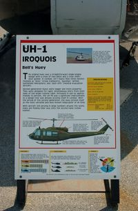 69-15475 @ DOV - Information Plaque for the 1969 Bell UH-1H Iroquois Helicopter at the Air Mobility Command Museum, Dover AFB, DE - by scotch-canadian