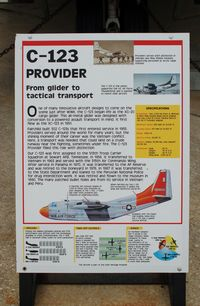 54-0658 @ DOV - Information Plaque for the 1954 Fairchild C-123 Provider at the Air Mobility Command Museum, Dover AFB, DE - by scotch-canadian