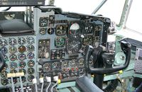 69-6580 @ DOV - Lockheed C-130E Hercules Cockpit, Co-Pilot side, at the Air Mobility Command Museum, Dover AFB, DE - by scotch-canadian