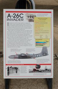44-35523 @ DOV - Information Plaque for the 1944 Douglas A-26C Invader at the Air Mobility Command Museum, Dover AFB, DE - by scotch-canadian