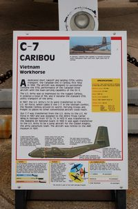 63-9760 @ DOV - Information Plaque for the 1963 De Havilland Canada C-7B Caribou at the Air Mobility Command Museum, Dover AFB, DE - by scotch-canadian