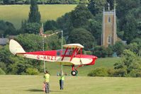 G-ANZT - Participant at the 80th Anniversary De Havilland Moth Club International Rally at Belvoir Castle , United Kingdom - and limboing as part of the Captain Neville's Flying Circus routine