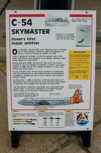 44-9030 @ DOV - Information Plaque for the 1944 Douglas C-54M Skymaster at the Air Mobility Command Museum, Dover AFB, DE - by scotch-canadian