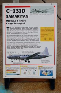 55-0295 @ DOV - Information Plaque for the 1955 Convair C-131D Samaritan at the Air Mobility Command Museum, Dover AFB, DE - by scotch-canadian