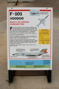 59-0428 @ DOV - Information Plaque for the McDonnell F-101B Voodoo at the Air Mobility Command Museum, Dover AFB, DE - by scotch-canadian