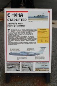 61-2775 @ DOV - Information Plaque for the 1961 Lockheed C-141A Starlifter at the Air Mobility Command Museum, Dover AFB, DE - by scotch-canadian