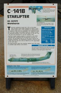 64-0626 @ DOV - Information Plaque for the 1964 Lockheed C-141B Starlifter at the Air Mobility Command Museum, Dover AFB, DE - by scotch-canadian
