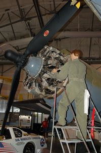 42-92841 @ DOV - 1941 Douglas C-47A Skytrain Engine Change at the Air Mobility Command Museum, Dover AFB, DE - by scotch-canadian