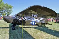 N49774 @ OSH - 1943 Taylorcraft L-2M, c/n: L-5535 at 2011 Oshkosh