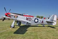 N151DM @ OSH - 1944 North American F-51D, ex USAF  44-13250 C/n 111-36533