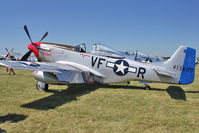 N151CF @ OSH - 1944 North American/aero Classics P-51D, ex USAF 44-84933N  c/n 124-44789 at 2011 Oshkosh