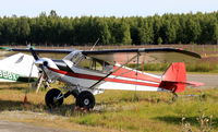 N2191J @ LHD - N2191J Super Cub on tundra tyres at Lake Hood, Anchorage AK - by Pete Hughes