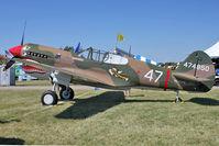 N40PE @ OSH - 1942 Curtiss Wright P-40E, c/n: AK905 at 2011 Oshkosh