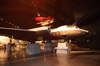 53-3982 @ FFO - EB-57B with lighting issues in Cold War hangar