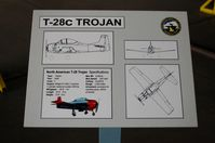 140557 @ WWD - North American T-28C Trojan Information Plaque at the Naval Air Station Wildwood Aviation Museum, Cape May County Airport, Wildwood, NJ - by scotch-canadian