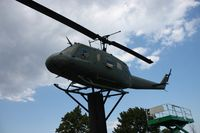 66-0796 - UH-1H on a post outside VFW hall in Fraser MI