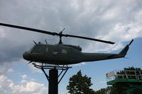 66-0796 - UH-1H on a post outside VFW Hall Fraser MI