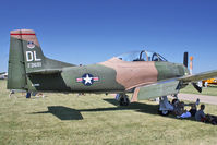 N285DL @ OSH - 1951 North American T-28D, c/n: 513681 at 2011 Oshkosh