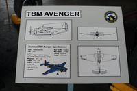 CF-MUD @ WWD - Grumman TBM-3S Avenger Information Plaque at the Naval Air Station Wildwood Aviation Museum, Cape May County Airport, Wildwood, NJ - by scotch-canadian