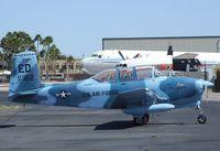 N18255 @ KFFZ - Beechcraft A45 (T-34 Mentor) outside the CAF Museum at Falcon Field, Mesa AZ - by Ingo Warnecke