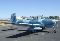 N18255 @ KFFZ - Beechcraft A45 (T-34 Mentor) outside the CAF Museum at Falcon Field, Mesa AZ - by Ingo Warnecke