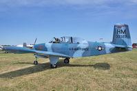 N34MK @ OSH - 1953 Beech A45, c/n: G-88 ex USAF 53-3327 at 2011 Oshkosh